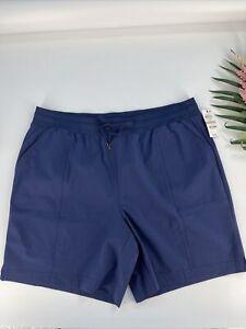 Ideology Women's Navy Blue Stretch Nylon Shorts Size 1X NWT #24