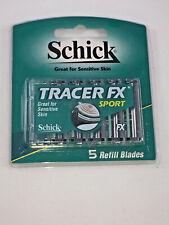 Brand New - Schick Tracer FX Sport Refill Blades 5-pak of Refill Cartridges