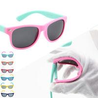 Unisex Kids Chic Polarized Children Baby Soft Sun Glasses UV400 Popular Eyewear
