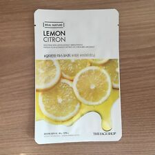 1SHEET THE FACE SHOP REAL NATURE LEMON BRIGHTENING FACE MASK PACK