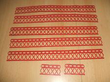 Märklin Metallbaukasten Geländerbänder 5x25/2 x 5 Loch bespielt siehe Foto