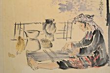 peinture aquarelle  Indochine Vietnam XXe signé