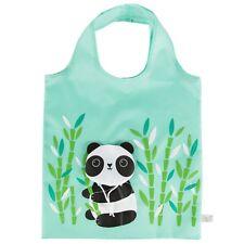 Panda Folding Shopper Shopping Bag PACK OF 3 Tote Eco Friendly Zero Waste Gifts