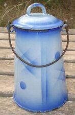 -Pot à Lait émaillé motif design 1930's-1940's Deutschland enamelware