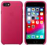 Apple iPhone 8/7/SE 2020 Echt Original Leder Hülle Leather Pink / Rosa Fuchsia