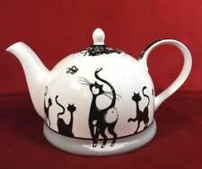 Kaffeekanne Teekanne Kanne Jameson&Tailor Diamant Porzellan Katzen modern
