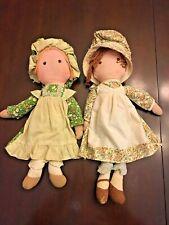 New ListingVintage Holly Hobbie's Friends Heather & Amy Cloth rag dolls Stuffed Toys