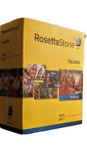 Rosetta Stone Italian Italiano Totale Level 1 Audio Complete Language
