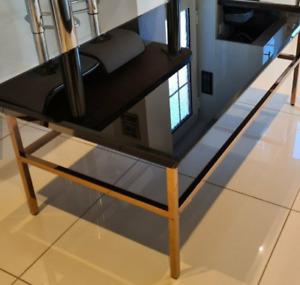 Black Glass Coffee Table