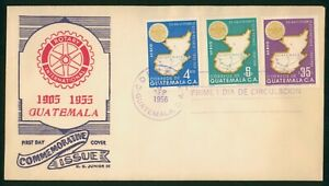 Mayfairstamps Guatemala 1956 Rotary International Junior Cachet first Day Cover