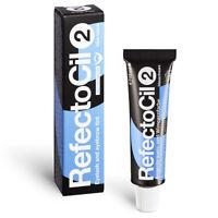 (33,00 € / 100ml) RefectoCil Augenbrauenfarbe und Wimpernfarbe 15 ml Blauschwarz