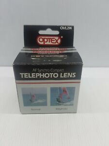 Telephoto lens AF synchro compact Optex video OVL214 Japan fit camcorders NIB