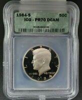 1984 S Kennedy Half Clad Proof Half Dollar Coin ICG PR70 DCAM Deep Cameo Proof