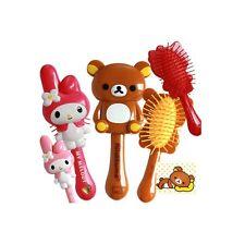 Hello Kitty My Melody Rilakkuma Korilakkuma Hair Brush Portable Mini Red Pink