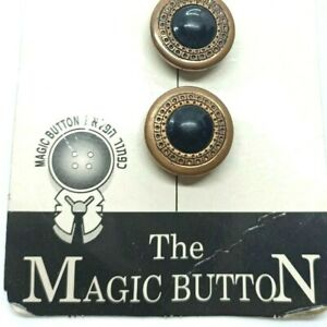 6 Vintage Button Covers Fashion Accessory Snap on Artistic Retro Makeover Brass