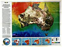 ⫸ 1988-2 Australia, Traveler's Look – National Geographic Map Poster Historical