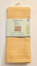 Bed Bath and Beyond Table Napkins 18x18 Evolution Napkins Set of 2 Yellow Nwt