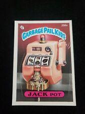 New listing 1987 Series 8 Garbage Pail Kids 256a Jack Pot Gpk