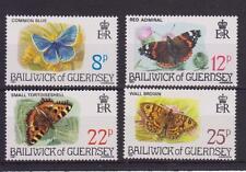 GUERNSEY 1981 BUTTERFLIES STAMP SET MNH SG 226-229