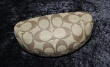 Coach Sunglass Eyeglass Case Khaki Brown Signature C Clamshell  New