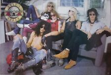 """GUNS N' ROSES """"COUCH SITTERS"""" POSTER FROM ASIA- Hard Rock Music, Slash, Axl Rose"""
