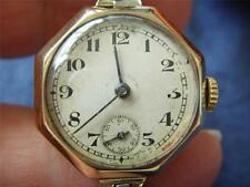 LADIES 9ct GOLD LADIES MOVADO WATCH ROLLED GOLD STRAP A.L.D CASED 1939