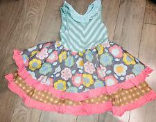 Matilda Jane Dress Size 6 Floral Ruffle