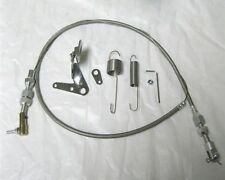 "Street Hot Rod Universal 24"" Stainless Steel Throttle Cable & Spring Set"