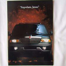 LINCOLN NAVIGATOR 5.4 V8 4x4 SUV Pre-Launch USA American Market Brochure c.1998