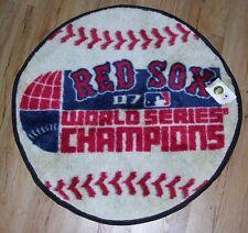 "Boston Red Sox 2007 World Series Champions Bath Rug 28"" round NEW 100% nylon fac"