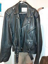 SALE PRICE REDUCED - Mens XL Excelled black leather biker jacket