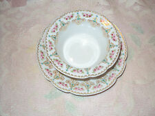 LIMOGE C. AHRENFELDT  RAMEKIN  CUP  &  SAUCER  PINK ROSES LOTS OF GOLD NO CHIPS