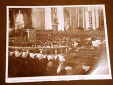 WW1 Prima guerra mondiale Roma 7 febbraio 1915 Papa e Cardinali pregano per pace