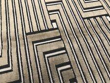 Groundworks Geometric Cut Velvet Fabric- Louvered Maze Linen 2.1 yd GWF-3041.816
