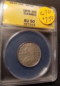1835 AU50 Certified Capped Bust Quarter C70