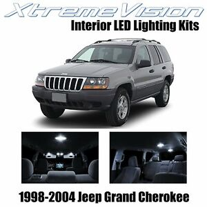 XtremeVision Interior LED for Jeep Grand Cherokee 1998-2004 (12 PCS) Pure White