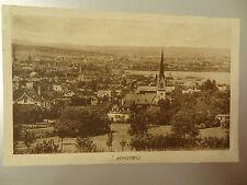AK Konstanz Post-Karte Stadt Panorama Kirche 1923 Ottmar Zieher Lithographie alt