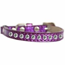 Mirage Pet Products Clear Jewel Ice Cream Cat safety collar Purple Size 10