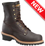 """CAROLINA 8"""" ELM LOGGER BROWN LEATHER WORK BOOTS 821 [ALL SIZES & WIDTHS] NEW!"""