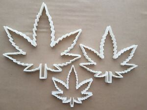 Cannabis Leaf Ganja Hemp Plant Shape Cookie Cutter Marijuana Biscuit Fondant 420