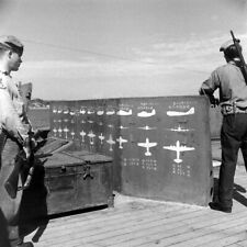 WW2 WWII Photo IJN Battleship Nagato Aircraft ID Silhouettes World War Two 7246