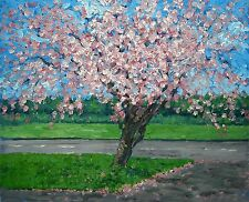 original oil painting :blossom tree