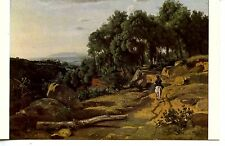 View Near Volterra-Corot Painting-Artwork-National Gallery Vintage Postcard