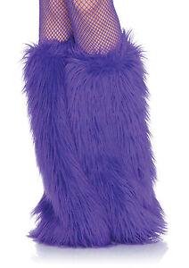 Sexy Leg Avenue Purple Faux-Fur Leg Warmers Costume Accessory