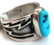 Navajo Ring by HARRY SPENCER Sterling Silver with Turquoise 12.5