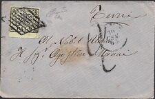 STATO PONTIFICIO 1865 - 2 b. n. 3Aa BORDO x TERNI, TASSATA 2 € 90++