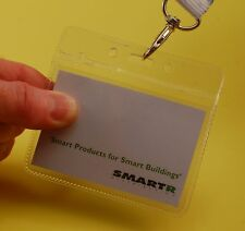 25 Visitor Badge Holders; Landscape; Flexible PVC