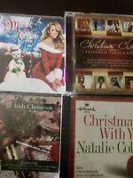 Lot of 4 Christmas CD's, Mariah, Natalie Cole, Aguilera, Destiny's Child