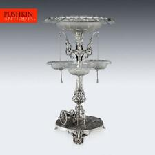 More details for antique 19thc victorian solid silver royal artillery centrepiece c.1874