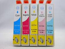 T0792 - T0796 Ink Cartridge for Epson Stylus PX810FW PX800FW PX710W PX700W - 5Pk